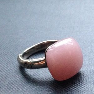 John Hardy Bamboo Orb Ring with Pink Calcedony